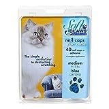 SC Nail-Caps ZX249 130 220 Feline Kitten Nail Care, Pastel Blue