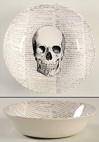 The Victorian English Pottery Halloween Skull Script 7-5/8