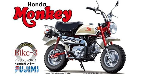 Amazon.com: Fujimi Honda Monkey Mini Bike 1:12 Scale Model Kit: Toys & Games