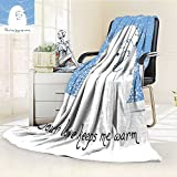 Microfiber Fleece Comfy All Season Super Soft Cozy Blanket greeting card with mother bear hugging her baby your love keeps me warm vector for Bed Couch and Gift Blankets(90''x 70'')