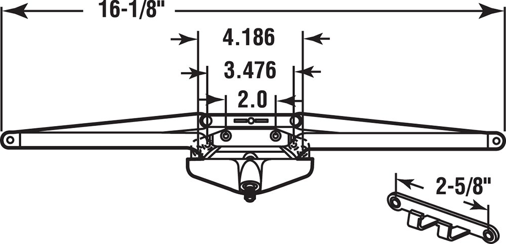 Prime-Line Products TH 23013 Roto Gear Awning Operator, 16-1/8-Inch with Crank, White by PRIME-LINE (Image #2)
