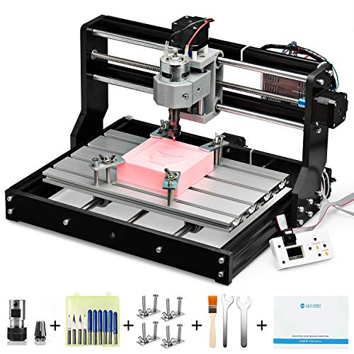 Genmitsu CNC 3018-PRO Router Kit GRBL Control 3 Axis Plastic Acrylic PCB PVC Wood Carving Milling Engraving Machine, XYZ Working Area 300x180x45mm (Best Cnc Laser Cutting Machine)