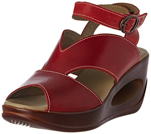 Sandales Femme FLY Red Rouge Hibo869 London 004 Compensées 8qrwrEI