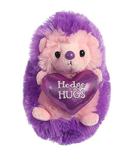 Aurora World Hedgehugs Plush, Purple, (Purple Hedgehog)