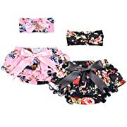 QandSweet 5 Pieces Baby Girl's Headbands Hair Bows Flower ( Pack of 5)