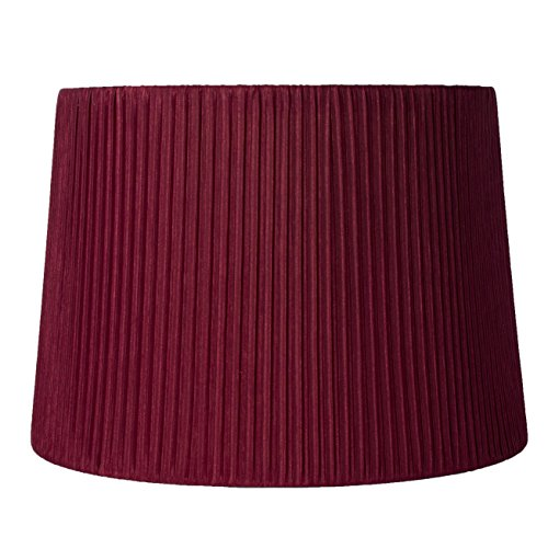 - Urbanest Faux Silk Box Pleated Drum Lampshade, 12x14x10