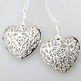 GLADLE Romantic 10LED Silver Metal Heart Fairy String Light Decoration Bild 3
