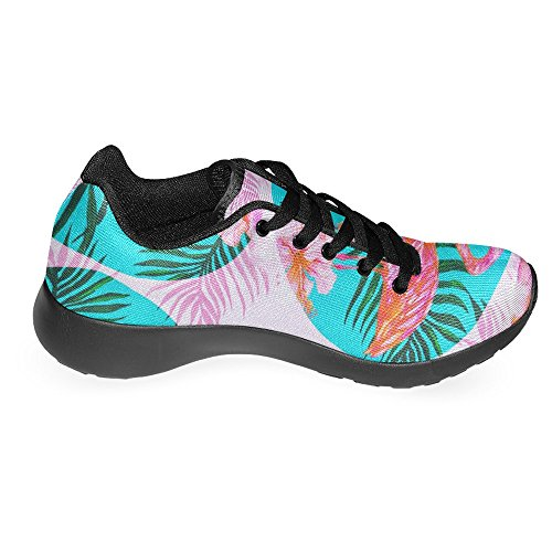 InterestPrint Womens Jogging Running Sneaker Lightweight Go Easy Walking Casual Comfort Sports Running Shoes Pink Flamingos Flowers and Palm Leaves Multi 1 5wJy9h