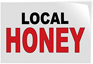 Decal Stickers Multiple Sizes Local Honey Black Red Bar Restaurant Food Truck B Industrial Vinyl Safety Sign Label Restaurant & Food 14x10Inches