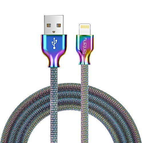 - Lightning Cable,[MFi Certified]Fantany Durable Metal USB Lightning Charging Cable Compatible with iPhone XS,XS Max,XR,X,8 Plus,7,7 Plus,6,6s Plus,SE,iPad mini,iPad Air,iPod Touch (3.3ft, Colourful-2)