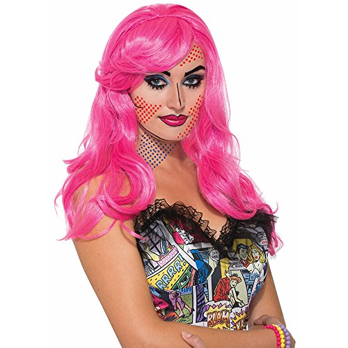 Forum Novelties Women's Wig-Pop Art Katie Kapow, Pink, Standard