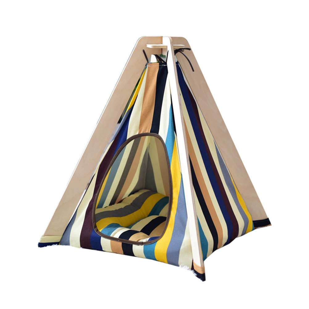 Cat Dog Teepee Pet Teepee Portable Pet Tent Pet House Kennel,Dog(Puppy) Beds,Cat Teepees,with Cushion,
