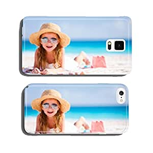 Adorable little girl at beach cell phone cover case Samsung S6