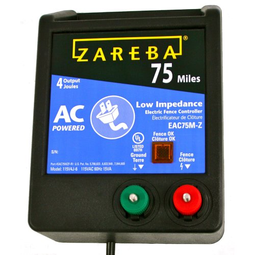 Heavy Electric Fence Wire - Zareba EAC75M-Z 75-Mile AC Low Impedence Charger