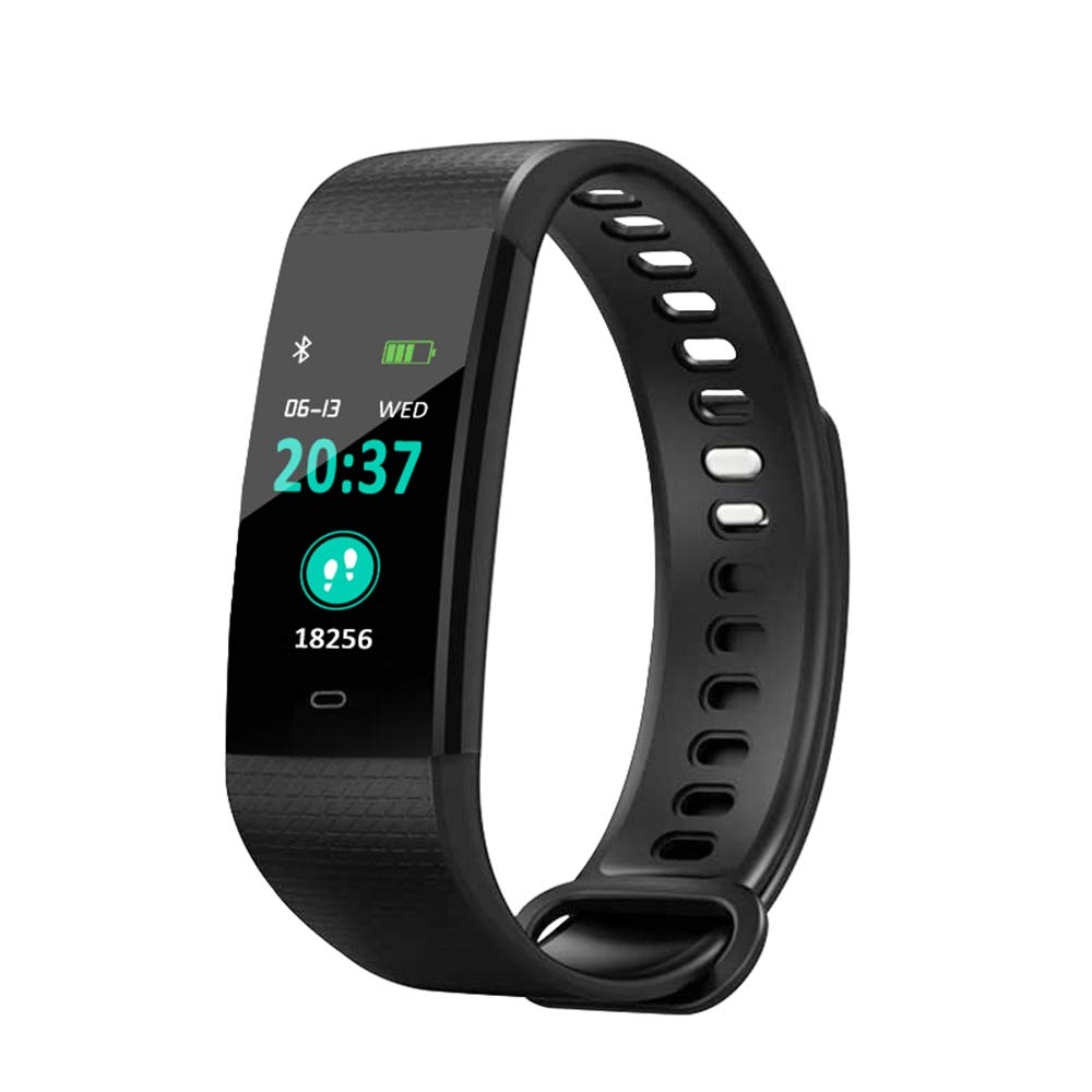 Blood Pressure Monitor Watch,Waterproof Color Screen Fitness Tracker with Heart Rate Blood Oxygen Monitor,Smart Wristband with Calorie Counter Watch Pedometer Sleep Monitor Bluetooth Bracelet YZJ