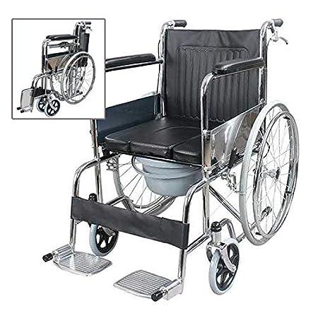 sedie a rotelle pieghevoli con wc