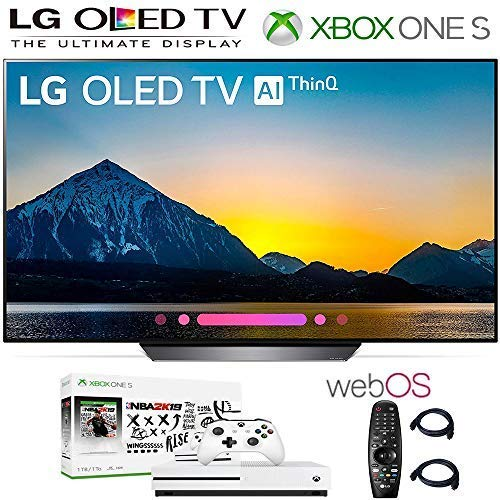 LG Electronics OLED65B8PUA 65-Inch 4K Ultra HD Smart OLED TV OLED65B8 (2018 Model), Xbox One S NBA 2K19 Bundle, 2HDMI Cables. Authorized LG Dealer.