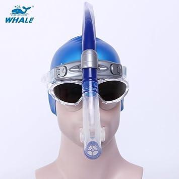 Hombres y Mujeres de ballena Natación Gafas De anti-vaho para máscara y tubo de