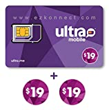 Ultra Mobile triple punch Regular, Micro and Nano SIM Card + 2 months $19 Plan