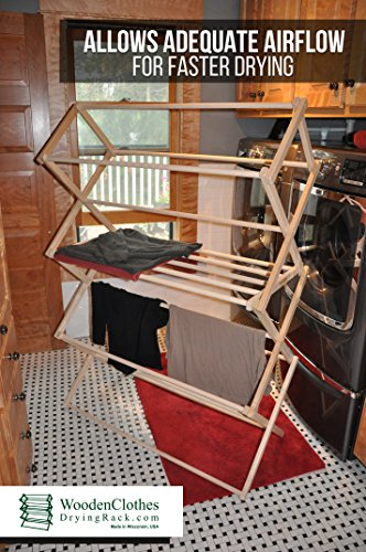 Large Wooden Clothes Drying Rack by Benson Wood Products by Benson Wood Products (Image #5)