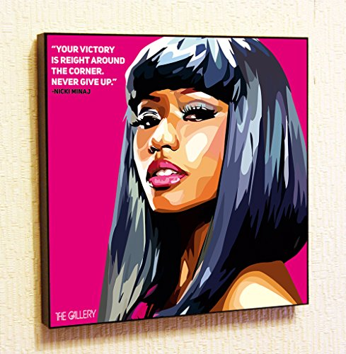 Nicki Minaj #2 Singer Music Artist Actor Decor Motivational Quotes Wall Decals Pop Art Gifts Portrait Framed Famous Paintings on Acrylic Canvas Poster Prints Artwork (10x10
