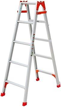 MJY Escalera Recta de Metal Multiusos, Tres Escalones/Cuatro Escalones/Cinco Escalones Escalera Doble Obra de Construcción Escalera Taburete Escaleras Plegables/Varias Alturas,49 * 96 * 140.5Cm: Amazon.es: Bricolaje y herramientas
