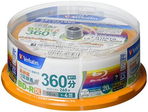 Verbatim Blu-ray Disc 20 Spindle - 50 GB 4X Speed BD-R DL - Printable