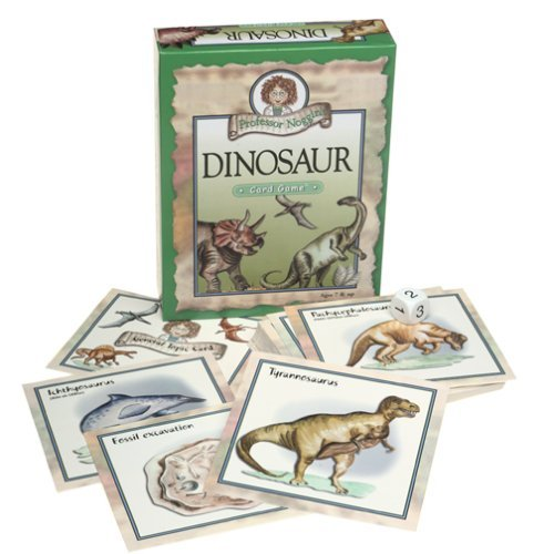 Professor Noggin's Dinosaurs - A Educational Trivia Based Card Game For Kids - Features 30 Illustrated Cards Including 180 Questions and a 3-Number Die (Ages 7+) by Professor Noggin (Image #2)