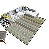 alsohome Silky Smooth Bedroom Mats Digital Tiles Design Wallpaper Design Waterproof and Easy Clean 22 x 36 inch