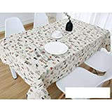 DW&HX Nordic Cotton Linen Table Cover Tablecloths Table Cloth Small Fresh Square Lattice Home Kitchen Easy Care Washable Tablecloth-C 80x120cm(31x47inch)