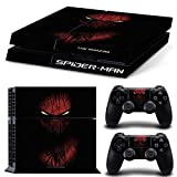 The Amazing Spider Man Skin Sticker Set for PS4 Playstation 4 Console Controller