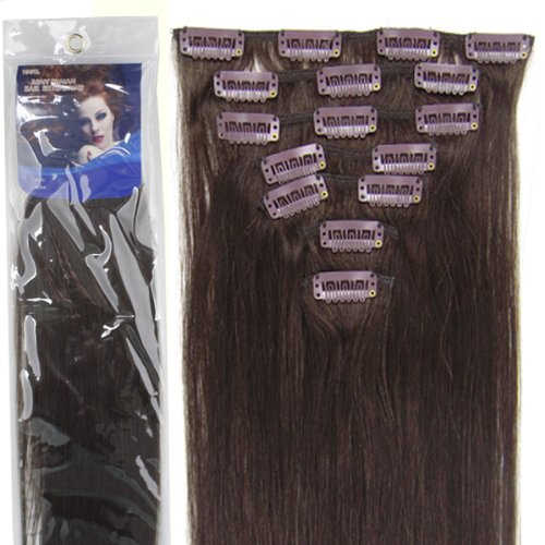 Amazon clip in remy real human hair extensions 20 inch dark 207pcs fashional clips in remy human hair extensions 24 colors for women beauty pmusecretfo Image collections