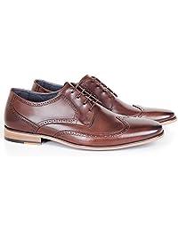 Sapato Casual 5649 Oxford Em Couro Café Savelli