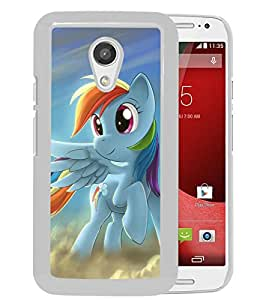 My Little Pony Rainbow Dash White Motorola Moto G 2nd gen Screen Phone Case Fashion and Luxury Design