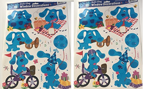 Blue's Clues Static Cling Window Decorations #0630 - 2 Sheets 10 Big Stickers ()