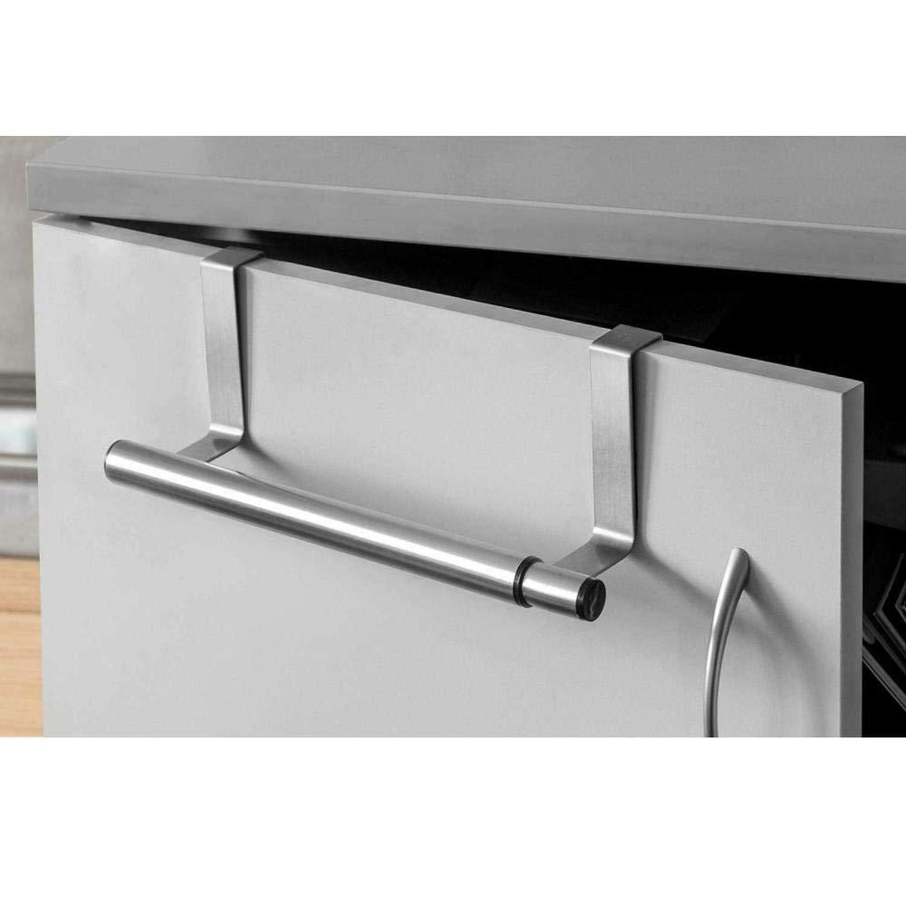 Extensible a 40 cm de acero inoxidable cromado sobre la puerta Toallero de cocina Soporte para ba/ño de cocina Toallero