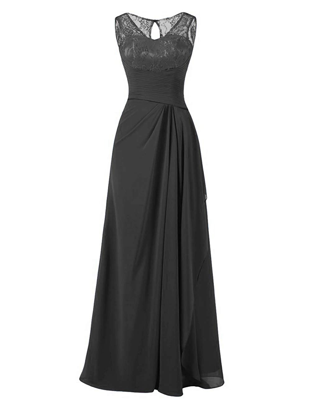 Evening Dress Formal Mother Gown V-Neck Long Chiffon Lace Bridesmaid Dresses