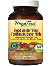 MegaFood - Blood Builder Mini, Support for Healthy Energy Levels and Red Blood Cell Production, Iron, Beet Root, and Folic Acid, 60 Tablets