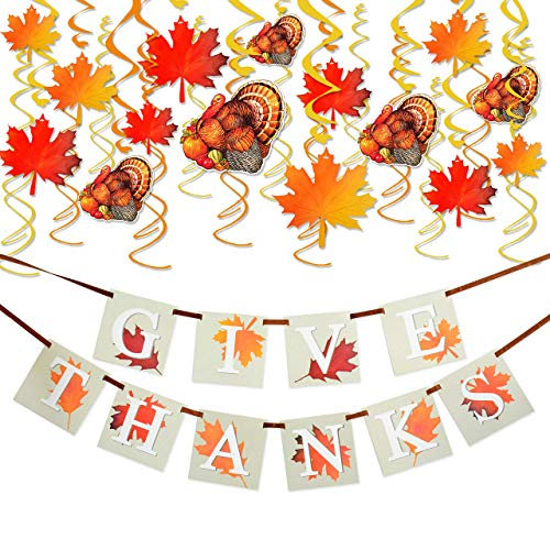36PCS Thanksgiving Decorations with