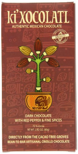 Ki' Xocolatl Dark Chocolate With Red Pepper & Fine Spices, 2.9-Ounce Boxes (Pack of 3)