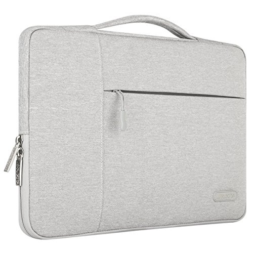 Mosiso Polyester Fabric Multifunctional Sleeve Briefcase Handbag Case Cover Only for 2016 Newest MacBook Pro 13 Inch with/without Touch Bar (A1706/A1708), Gray