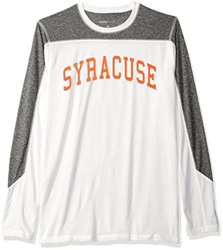 NCAA Syracuse Orange Men's Paneled Long Sleeve Tee, Medium, White ()