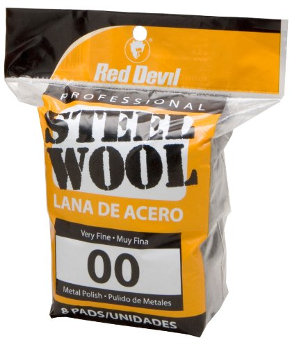 Red Devil 0322 Steel Wool, 00 Very Fine, (Pack of 8)