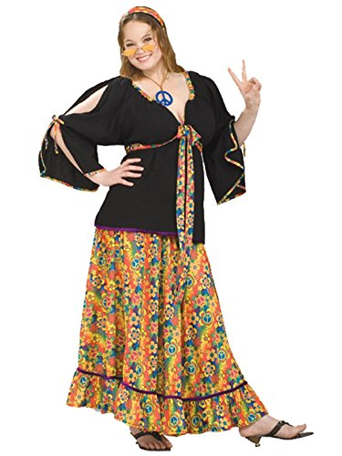 Forum Plus Size Groovy Mama Costume, Red,