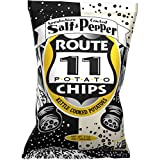 Route 11 Salt & Pepper Chips : Appalachian Salt and Cracked Pepper kettle style potato chips, non-GMO, gluten-free, peanut-free (2oz bags (30pk))