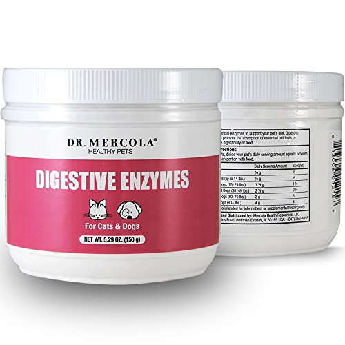 Dr. Mercola Digestive Enzymes For Pets - Dietary Supplement For Cats & Dogs - Contains 5 Enzymes - 5.26 oz by Dr. Mercola (Image #1)