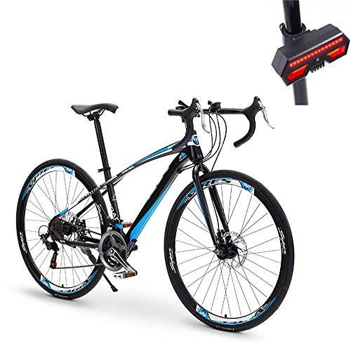 Bicicleta, Bicicleta De Carretera, 49 Cm 21 Velocidades, Acero De Alto Carbono, Freno De Disco Doble, Amortiguador...