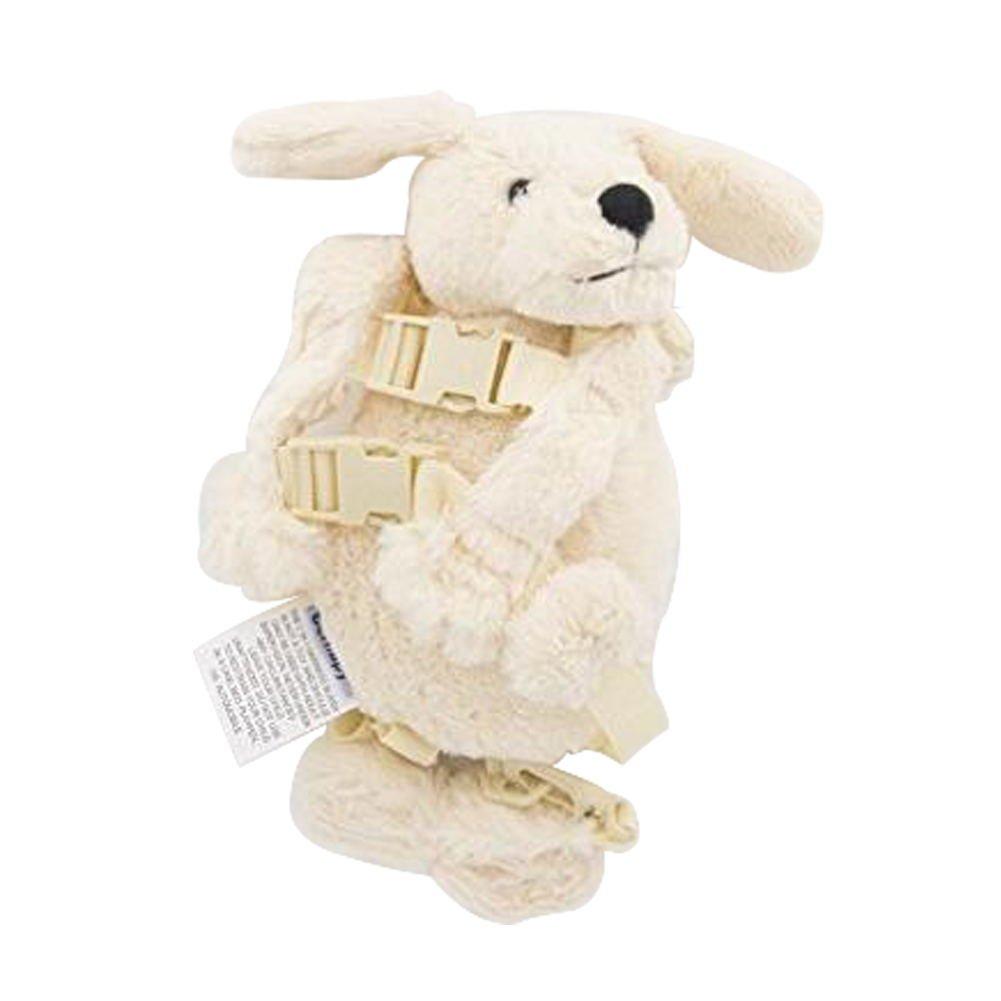 Berhapy 2 in 1 Monkey Toddler Safety Harness Backpack Children's Walking Leash Strap (Light white dog)