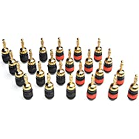 WGGE WG-008 24K Gold Safety Connector Banana Plugs (12 Pair (24 plugs))