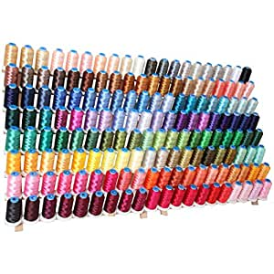 Machine Embroidery Thread Set - 160 Large Polyester Spools - 1000M - 40 wt.